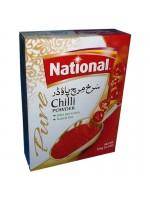 National Chili Powder Extra Hot Variety and Natural Red 100 Gm