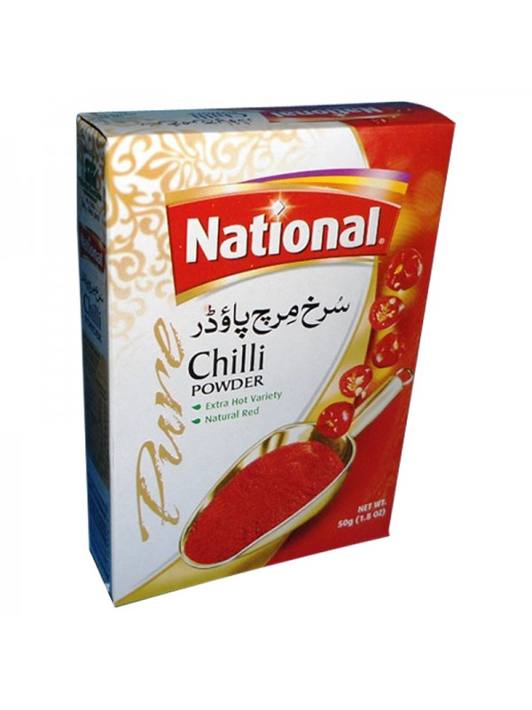 National Chili Powder Extra Hot Variety and Natural Red (50 Gm)