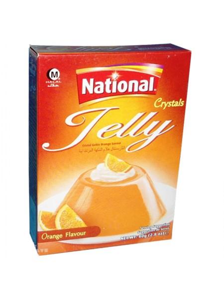 National Crystal  Jelly Orange Flavour (80 Gm)