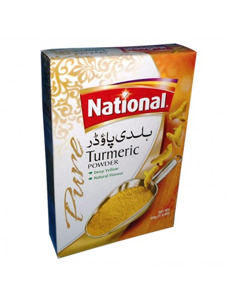 National Turmeric Powder Deep Yellow and Natural Flavour (50 Gm)