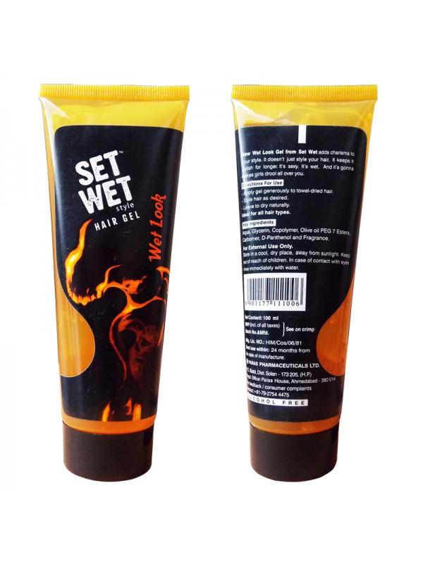 Set Wet  Hair Gel Wet Look ( 100 ml Tube)